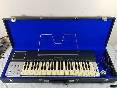 Vintage Retro 1981 CASIOTONE 202 Keyboard Synthesiser Vibrato Synth 49 Key +Case