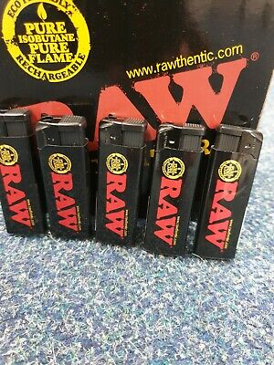 RAW BLACK WindProof  Turbo Jet Flame Gas Refillable CIG LIGHTER PACK OF 1| 3 | 5