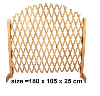 Free Standing Trellis Arched Wooden Extendable Fence Screen Divider Garden