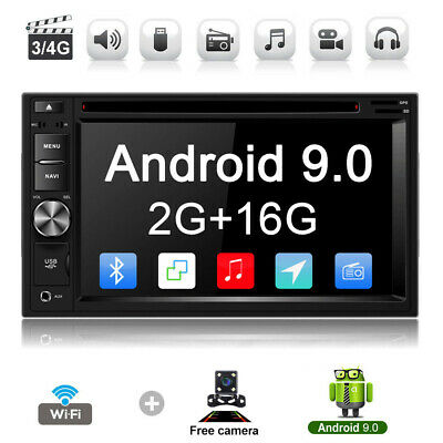 "6.2"" Android 9.1 Car DVD Player GPS Navigation Universal 2Din Car Radio Stereo"