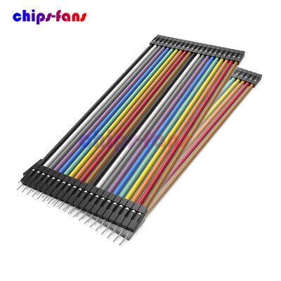 10 X 40PCS Dupont wire jumpercables 20cm 2.54MM male to female 1P-1P For Arduino