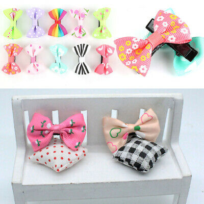 HOT 1/10PCS Girls Kids Duckbill Bow Hairpin Hair Clip Ribbon Barrette Headdress
