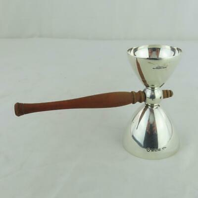 Rare Adie Brothers Jigger Roller Shot Sterling Silver w/ Wooden Handle English
