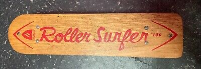 Vintage Antique Wooden Wood Skate Board Hedlund Roller Surfer #100 NICE