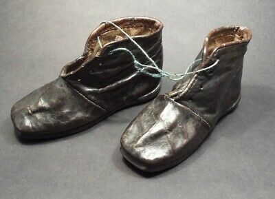 A  Miniature Pair Of Georgian Leather Boots