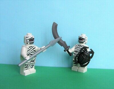 Lego Glow in the Dark Mummy Warrior Halberd Beetle Shield Egyptian Monster 9462