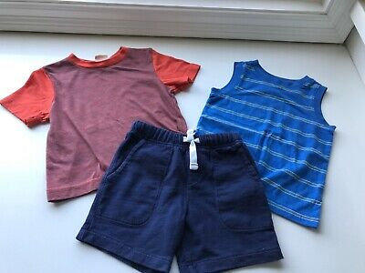 Toddler Boys 2 Shirts & 1 Shorts Lot Carter's Old Navy Harper Canyon 2T