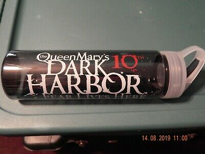 The Queen Mary's 10Th Dark Harbor Fear Lives Here Water H20 Bottle Bpa Free