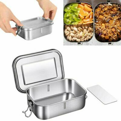 304 Stainless Steel Lunch Box Bento Box 800ml with Removable Divider Leakproof