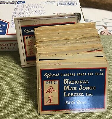 1984-85 National Mah Jongg League Official Hands and Rules Booklet #B5