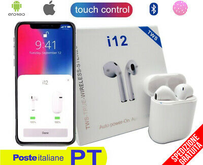 Cuffie Wireless Android Iphone con Sensore Touch Abbinamento Automatico