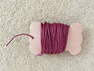 10M 2mm Waxed Cotton Cord Thread Jewellery DIY Beading Supply Burgundy Red