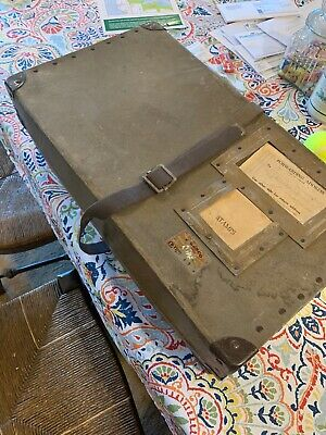 Vintage Military Footlocker Box Uniform Trunk Chest WWII WWI Bin Large