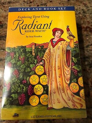 SEALED BRAND NEW! RADIANT RIDER WAITE TAROT Deck & BOOK Set