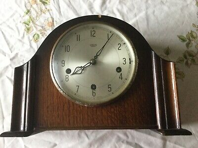 Vintage Smiths Enfield Mantle Clock With Key working order needs a service