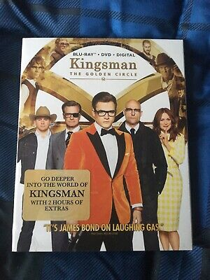 Kingsman: The Golden Circle: 2017 Bluray/DVD w/Slipcover *NO DIGITAL CODE HD*