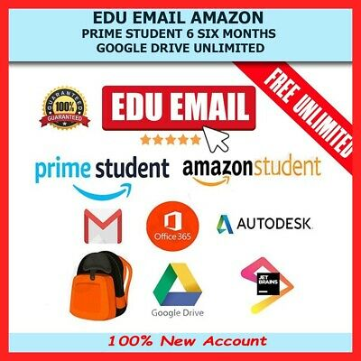 Edu Email 6Months Amazon Prime Unlimited Google Drive Storage US Student