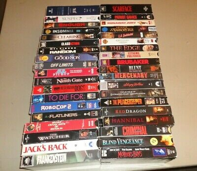 Horror Action Thriller Movies (VHS Lot of 40) Cult Sleaze Some Rare OOP New