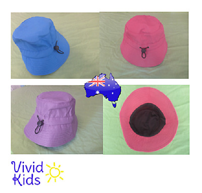 Kids Bucket Hat Adjustable Wide Brim Sun Safe - Summer is coming