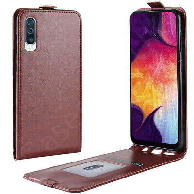 Fits Samsung Galaxy A50-Vertical Flip PU Leather Magnetic Case Protector Cover