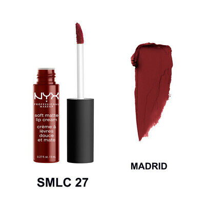 NYX Makeup Soft Matte Lip Cream Liquid Gloss Lipstick Long Lasting Madrid
