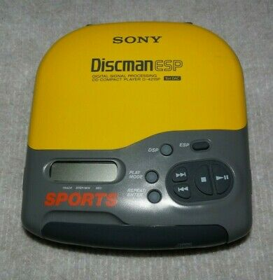 Sony Discman Esp Compact Portable Cd Player Tested-Works Nice Shape
