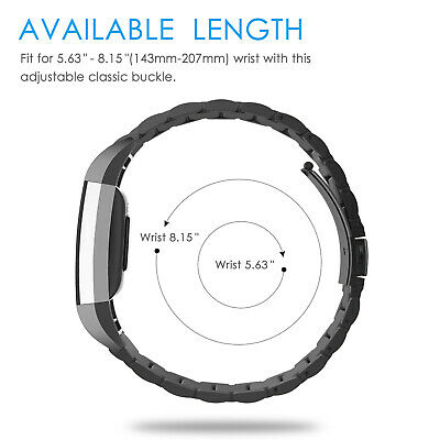 For Fitbit Charge 2 Replacement Wristband Strap Band Metal Wrist Bracelet
