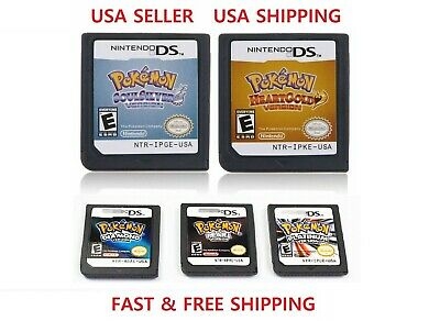 Pokemon HeartGold SoulSilver Platinum Diamond Pearl For 3DS USA English Version