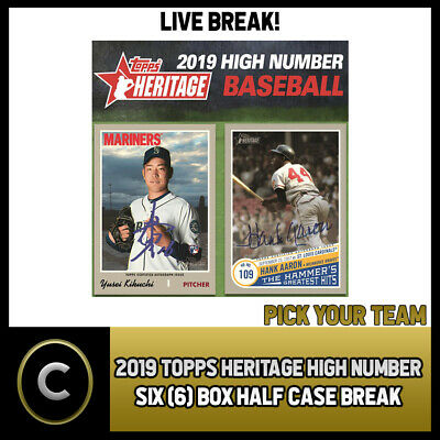 2019 Topps Heritage High Number 6 Box (Half Case) Break #a407 - Pick Your Team