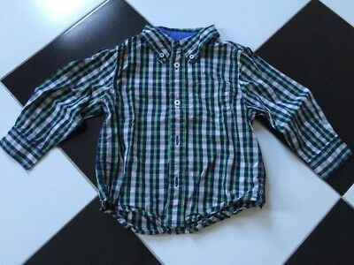 Baby Gap Boys Christas Checkers Button Down Shirt 2 Years SELLING TONS! Green Na