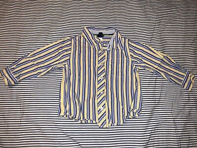 Baby Gap Boys Blue Yellow Striped Button Down Shirt 4 Years SELLING TONS!