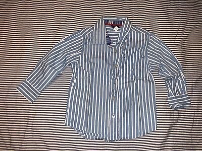 Baby Gap Boys Blue White Striped Button Down Shirt In Size 4 Years SELLING TONS.