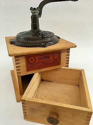 A+ Antique/Vintage American WRIGHTSVILLE No.1147 Wood+Metal Coffee Mill/Grinder