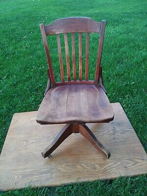 Murphy 261 Owensboro, KY Antique Swivel Banker Chair Vintage Lawyer Doctor