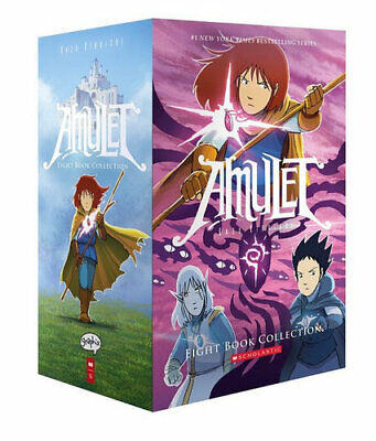 NEW Amulet Eight Book Collection By Kazu Kibuishi Paperback Free Shipping