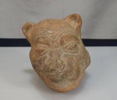 Pre Columbian Pottery Mexico Head Fragment      - 57188