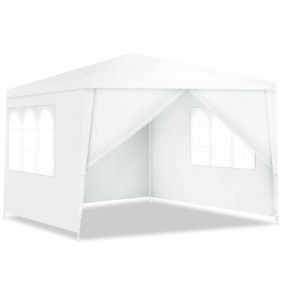 10 X 20 White Wedding Party Tent Gazebo Canopy with 6