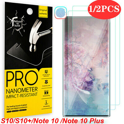For Samsung Galaxy S10 5G S9 S8 Plus Note 10 Plus HYDROGEL Full Screen Protector