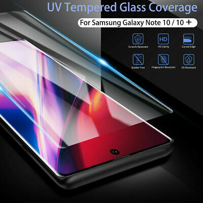 For Samsung Galaxy Note 10 Plus S10+ 5G Full UV Tempered Glass Screen Protector