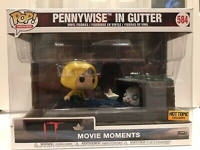 """Funko POP! Movie Moments IT 584 """"Pennywise in Gutter"""" Hot Topic Exclusive Figure"""