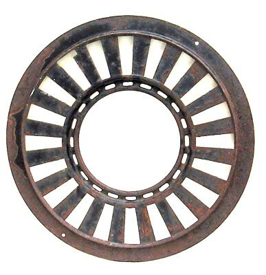 "Antique CAST IRON STOVE Heating Air Grate Vent -15.5"" diameter - FREE SHIPPING"