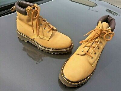 Dr Martens 939 honey tan nubuck leather boots UK 8 EU 42 Made in England