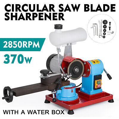 370W Saw Blade Sharpener Water Injection Grinder 125mm Solid Slideable Circular