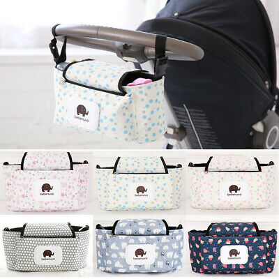 Universal Pushchair Organiser Baby Pram Buggy Stroller Storage Cup Holder Bag