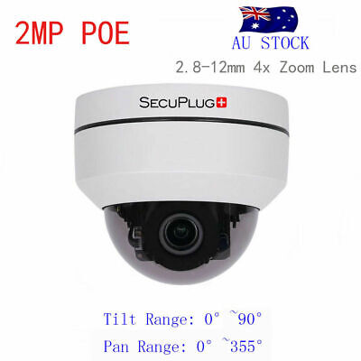 HD 1080P PTZ Outdoor POE IP Dome Camera 4X Optical Pan/Tilt/4X Motorized Zoom