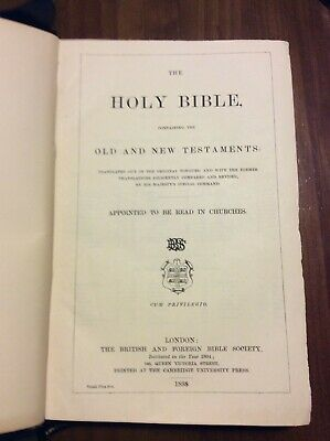 Antique Holy Bible 1898
