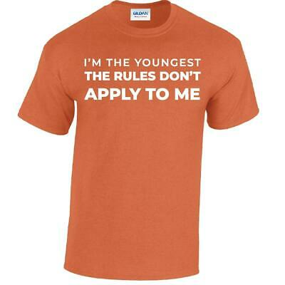Youngest Mens Top Tee T-Shirt Funny Brother Sister Shirts New Joke Gift Siblings