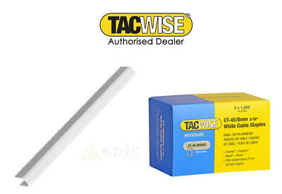 TACWISE CT45 8mm OR 10MM WHITE OR GALV CABLE TACKER STAPLES  FITS CABLE TACKERS