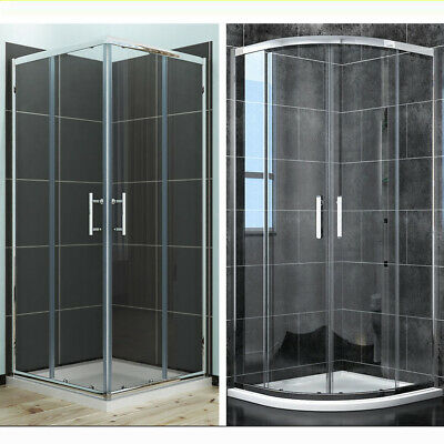 Quadrant Shower Enclosures Corner Entry Shower Cubicle and Tray 6mm Glass Screen