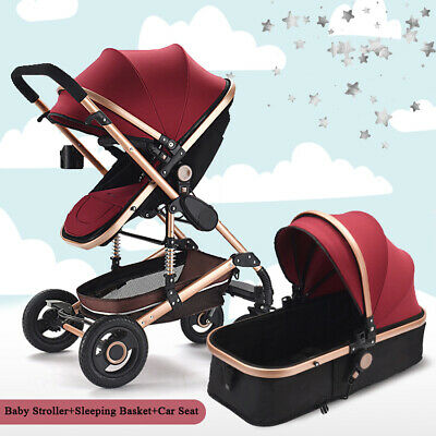 3 in 1 Baby Travel System Carrycot Carseat Combi Travel System Pushchair Set Uk